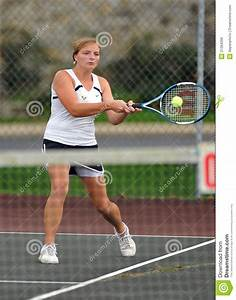 Girls High School Tennis editorial photo. Image of athlete ...