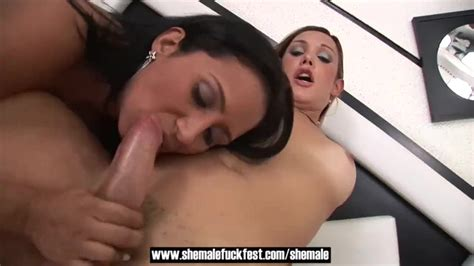 Shemales Fucks Guy And Girl In A Hot Threesome Shemale