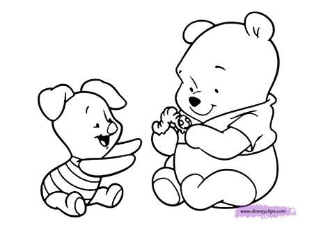 baby winnie  pooh  friends coloring pages coloring