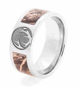 deer wedding rings realtree camo crush ring see it now titanium buzz