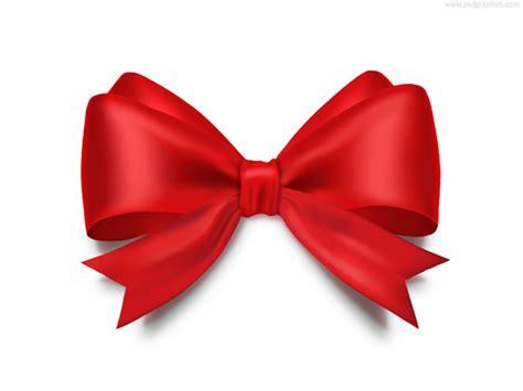 ribbon bow red bow psdgraphics
