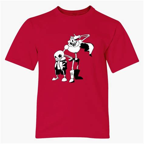 sans and papyrus undertale Youth T shirt Customon com