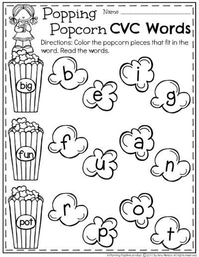cvc words worksheets  kindergarten  images cvc