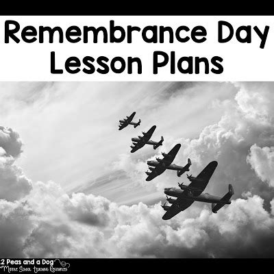 remembrance day lesson plans 2 peas and a