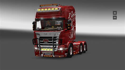 v8k blaine bullbar v2 paintable for scania 2016 s r truck skin truck simulator 2 mods