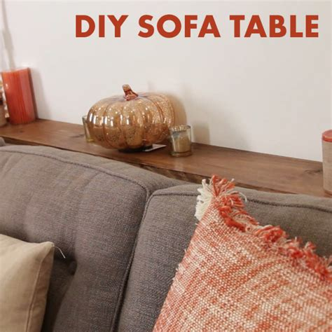 diy sofa table with outlet diy sofa table gives you somewhere to place your coffee