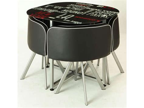 table et chaise gain de place ensemble table 4 chaises town vente de ensemble table et chaise conforama