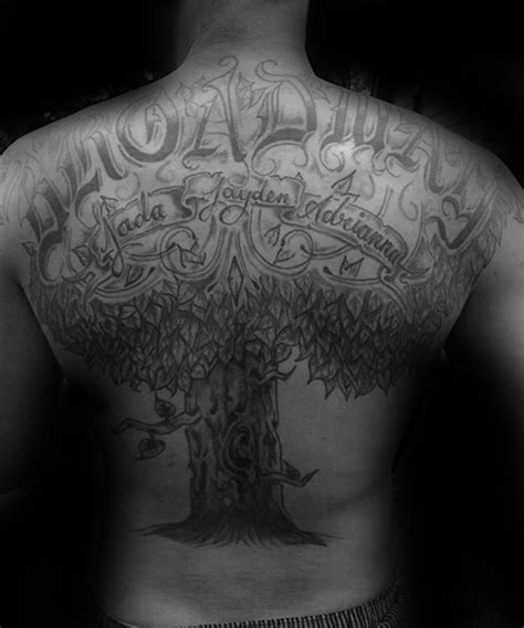 family tree tattoo designs  men kinship ink ideas