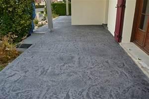 renovation d39une terrasse et d39un escalier en beton With couleur peinture mur exterieur 0 20 photos de beton cire de couleur et beton colore exterieur