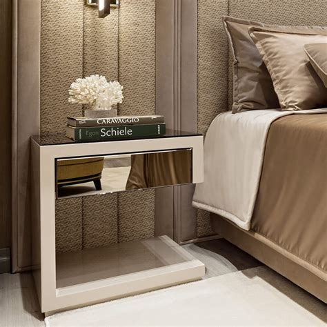 high  contemporary italian designer bedside table