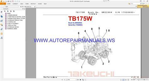 takeuchi tbw parts manual bwz auto repair manual forum heavy equipment forums