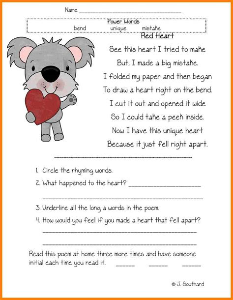 comprehension grade kidz activities
