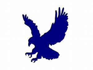 Flying blue eagle company logo