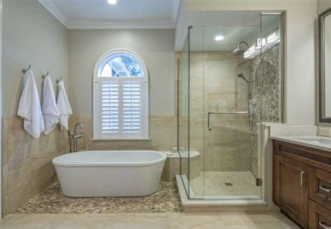 tub  shower  big bathroom remodeling design decision