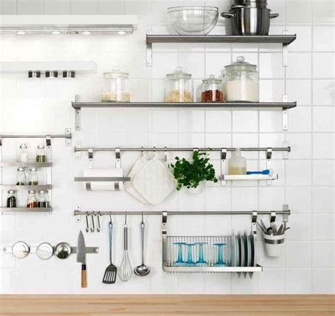 ikea metal kitchen shelves google search stainless