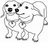 Dachshund Coloring Printable Crayola Dog Sheets Animal Animals Types Educativeprintable sketch template