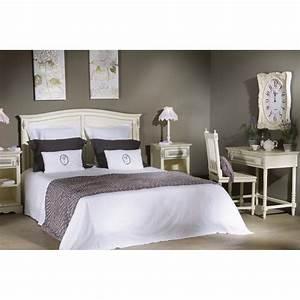 Tete De Lit Chic : t te de lit ornement 170 cm en bois patin blanc ~ Melissatoandfro.com Idées de Décoration