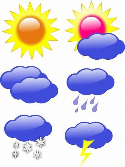 Weather Symbols Forecast Children Clipart Clip