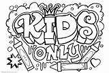 Graffiti Coloring Pages Template Only Printable Adults Bettercoloring sketch template