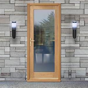 Part L Compliant External Shaker 1 Pane Oak Door With