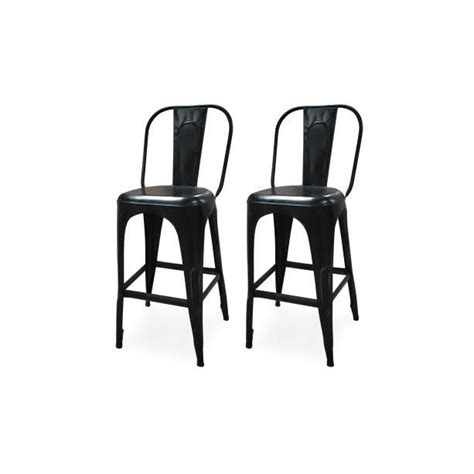 lot de 2 tabourets de bar en métal franklin achat