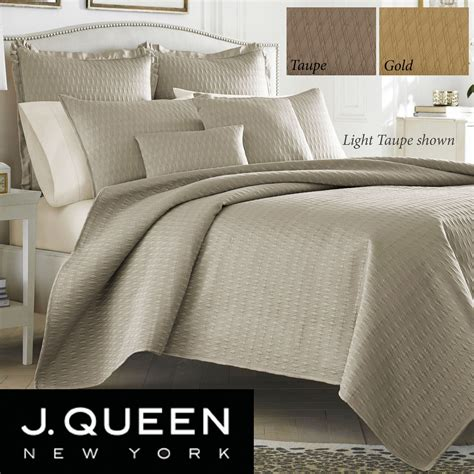 Quilted Coverlet Set by Hudson Poly Satin Quilted Coverlet Set By J New York