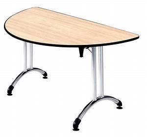Table Demi Lune Pliante : table pliante demi lune plume pi tement chrome plateau all g ~ Dode.kayakingforconservation.com Idées de Décoration