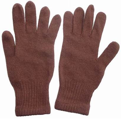 Gloves Wool Brown Knitted Russian Soviet Army