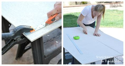 Cutting Hardibacker Tile Board by Remodelaholic How To Tile A Bathroom Floor