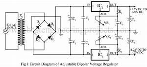 Adjustable Bipolar Voltage Regulator Circuit Using Lm337