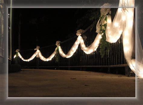 fence  tulle wedding lights wedding entrance