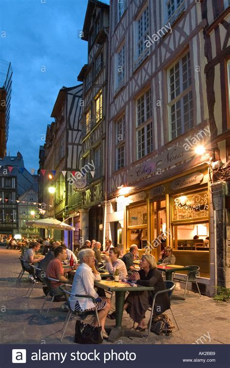 restaurant at in the town rouen normandy stock photo royalty free image