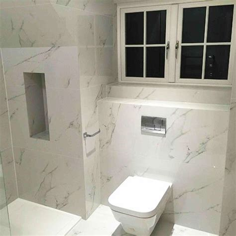9 best images about white carrara marble effect tiled