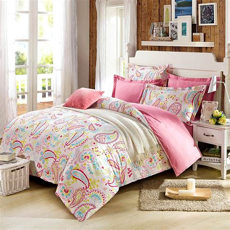 paisley bedding cliab paisley bedding pink twin or queen for teen girls duvet cover set 100 cotton 5 pieces