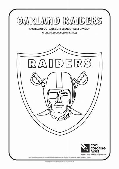 Nfl Coloring Raiders Pages Football Logos Team