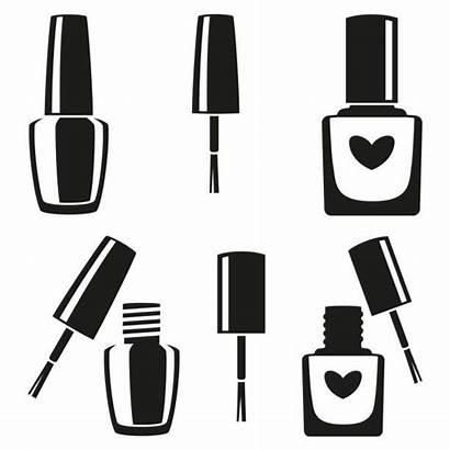 Nail Polish Vector Silhouette Clip Bottle Illustration