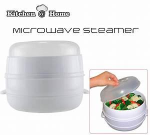 1 PCS 2 Tier Microwave Food Steamer BPA Free Cookware ...