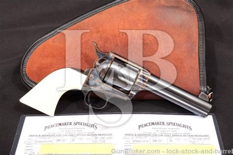 colt 3rd single army saa blue 4 3 4 peacemaker specialists custom revolver 1977 45