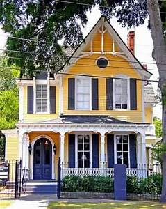 Yellow house purple shutters: Victorian Homes, Exterior