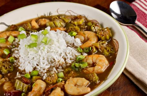 cuisine cajun shrimp and okra gumbo is and rich with a bold spice