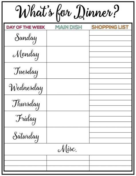 December Meal Planner Template by Weekly Meal Planner Week 7 Skip To My Lou