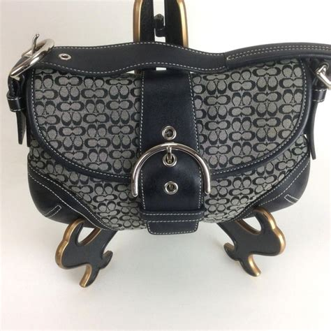 coach bags signature jacquard soho flap buckle black poshmark