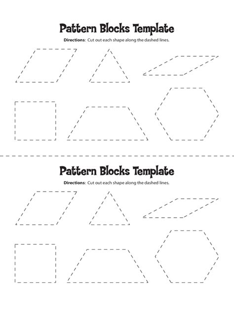 pattern block templates   templates   word
