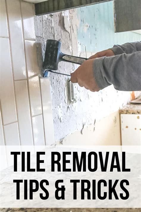 tile removal kitchen backsplash part  making manzanita
