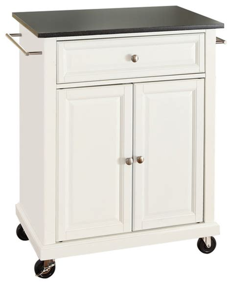 white kitchen island cart fastfurnishings white kitchen cart with granite top and