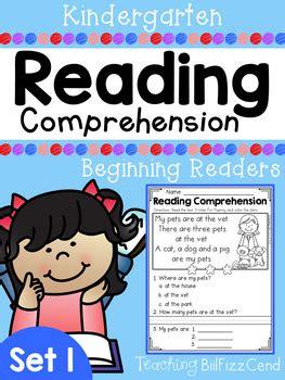 Kindergarten Reading Comprehension (set 1) By Teaching Biilfizzcend