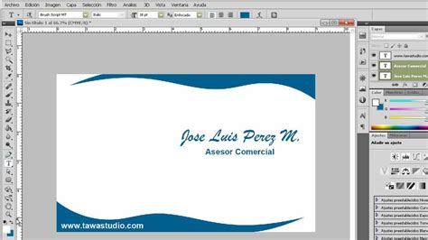 Crear Tarjeta Personal en Photoshop Cs5 YouTube