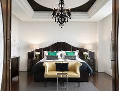 Modern Black House Bright Accents Add Drama To The Bedroom With A Black And White Color Scheme