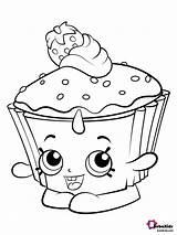 Coloring Strawberry Cake Cup Cupcake Preschoolers Shopkin Bubakids Cupcakes Cartoon Printable sketch template