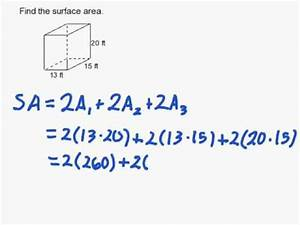 How to Find the Surface Area of a Rectangular Prism - YouTube